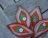 Handmade Leaf Corsage Brooch