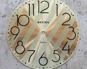 Vintage Soviet Clock Dial -- brass