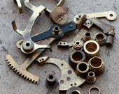 Vintage selection of assorted clock parts -- D8