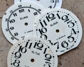 Vintage Soviet Alarm Clock Faces from 1980's -- plastic -- D9