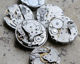 Vintage watch movements -- set of 6