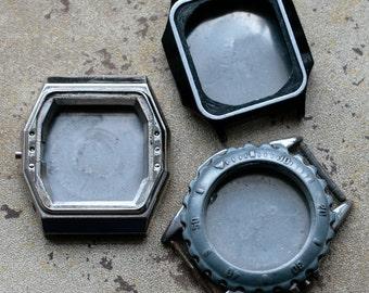 Wrist Watch Case Parts  -- set of 3