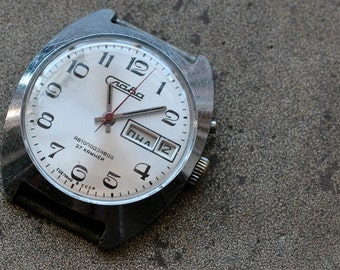 Vintage Soviet mens wristwatch SLAVA -- AUTO Self Winding