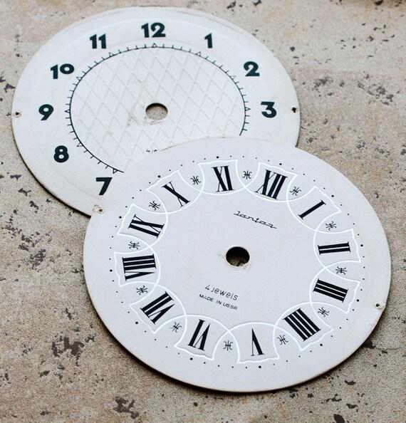 Vintage Alarm Clock Faces -- cardboard