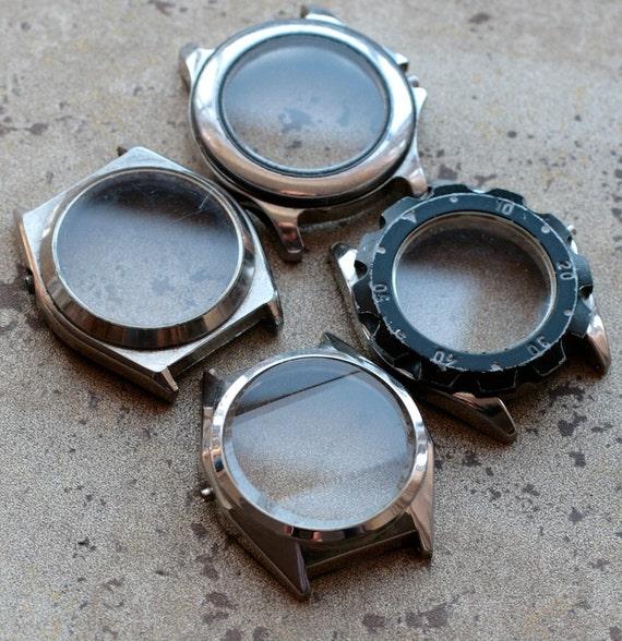 Wrist Watch Case Parts  -- set of 4