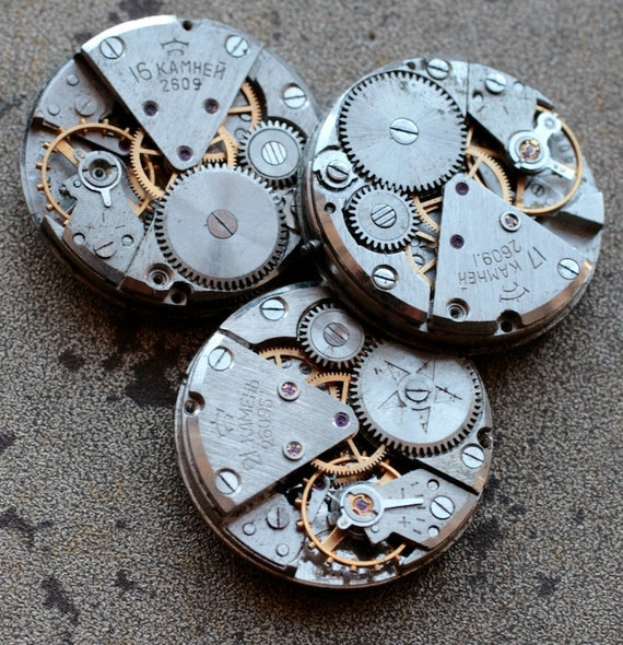Vintage watch movements -- set of 3 -- D2