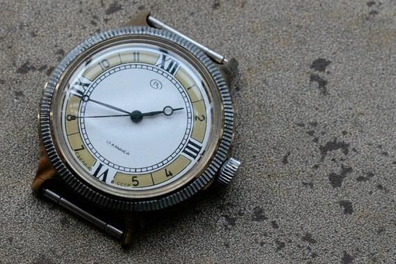 Vintage Soviet Watch -- VOSTOK -- golden plated
