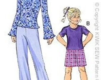 Kwik Sew Pattern 3056 Girls Sz 8 thru 14 Free Shipping
