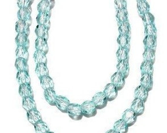 Czech Beads by Jablonex Preciosa 4mm Lt Aqua 3 Strands