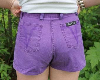SHORTS - PURPLE SHADES short shorts - size M