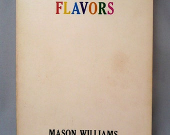 BOOK - FLAVORS Mason WILLIAMS - comedy book - out of print - 1970 - hard to find