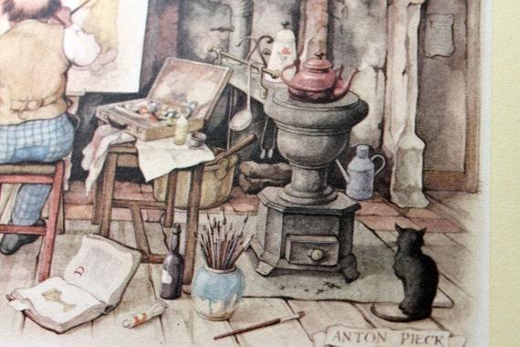 ANTON PIECK - The Painter's Studio - PRINT - perfect for framing
