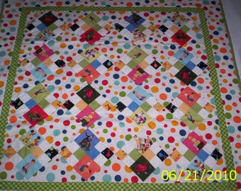 Fun with Dick and Jane baby quilt