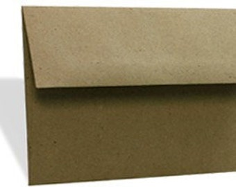"""Brown Bag A6 Envelopes, Quantity of 25 - Ideal for 4""""x6"""" Cards"""