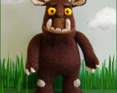 Gruffalo   :   knitting pattern only IMMEDIATE DOWLOAD