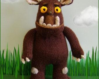 Gruffalo   :   knitting pattern only IMMEDIATE DOWLOAD
