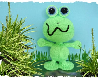 Fink the frog monster :  KNITTING PATTERN only PDF download