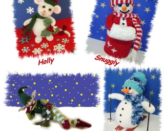 Christmas Cuties   Ebook  four fun patterns   :   Pattern only IMMEDIATE DOWNLOAD