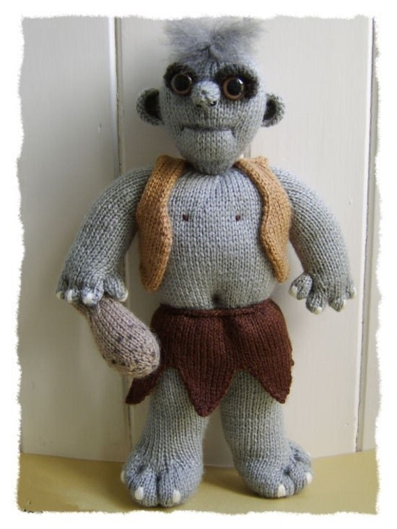 Thugnard the troll  great knitted troll :  Pattern only IMMEDIATE DOWNLOAD