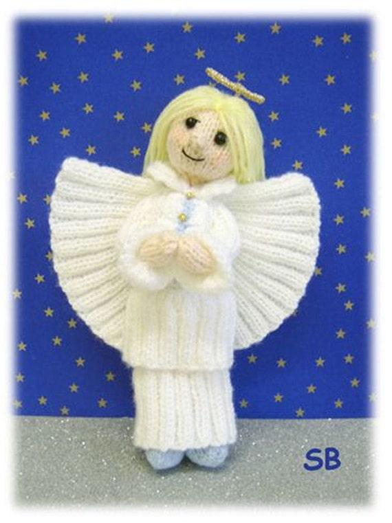 Knitting Pattern For Christmas Tree Angel : Angelica Christmas Angel knitting pattern only IMMEDIATE PDF