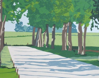 In France- the Medoc, limited edition serigraph