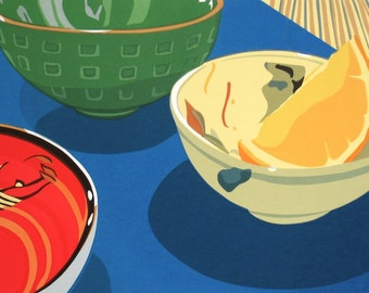 Three Bowls, limited edition serigraph