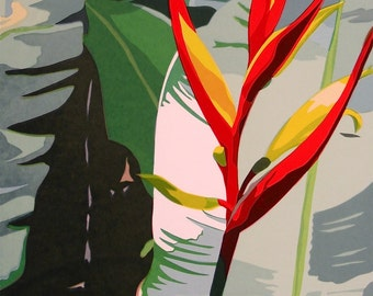 Heliconia, limited edition serigraph