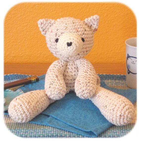 Amigurumi Cat Toys : amigurumi kitty cat plush crochet multicolored speckled cotton