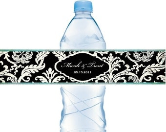 Waterbottle Labels Waterproof Weddings Baby Showers Birthdays Personalized