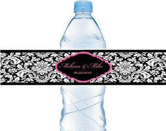 Waterbottle Labels Waterproof Weddings Baby Showers Birthdays Personalized