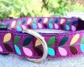 "Dog Collar Grapevine 1"" adjustable side release / only enough ribbon for one collar"