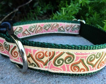 "Large Dog Collar 1.5"" Quick Release buckle adjustable Open Hearts - see 3/4"" & 1"" collar links - martingale style is cost upgrade"
