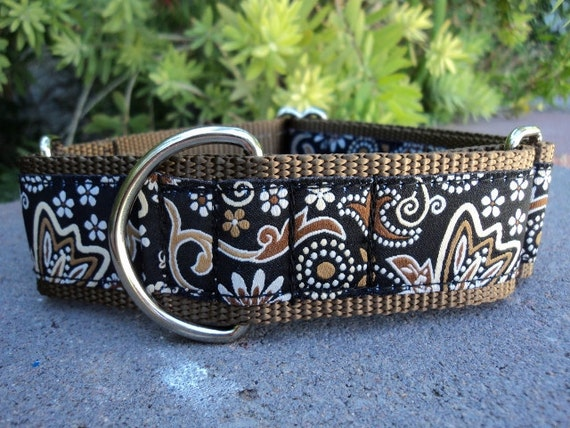 """Wide Martingale Collar Espresso 1.5"""" width adjustable collar / or 1"""" listing / see side release listing"""