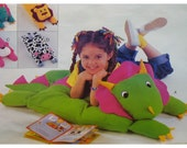 "Animal Pillow Cover Pattern, Dinosaur, Lion, Cow, Cat, Stuffed Toy, Cushion,   Butterick No. 3721 UNCUT Size: 20x25"" (51x63.5cm)"