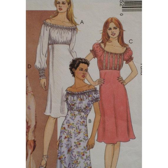 Peasant Top Dress Pattern Empire Waist Elastic By Voguevixens