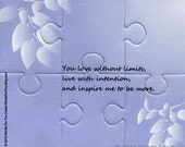 You Inspire Me to be More Card - Interactive Foam Puzzle Message Card