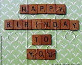 Happy Birthday To You Card - Scrabble Tiles - Interactive Foam Puzzle Message Card - Great for Mom, Dad, Family and Friends