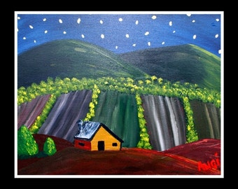 """Tuscan Barn, Signed Print from an Original Painting, 16""""x20"""""""