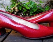 The 1960's Red Low Heel DeLiso Flats