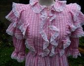 The Vintage Pink Gingham Southern Belle Hoop Skirt Costume