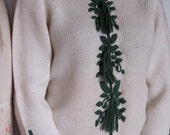 The 1950's Holly Winter Ski Sweater