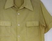 The Mustard Yellow Gingham Men's Shirt
