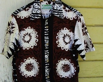 The Vintage 1960's Waltah Clark Men's Hawaiian Tiki Shirt
