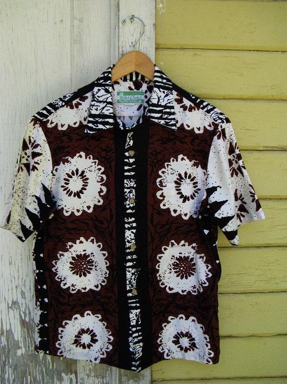The Vintage 1960's Waltah Clark Men's Hawaiian Tiki Shirt