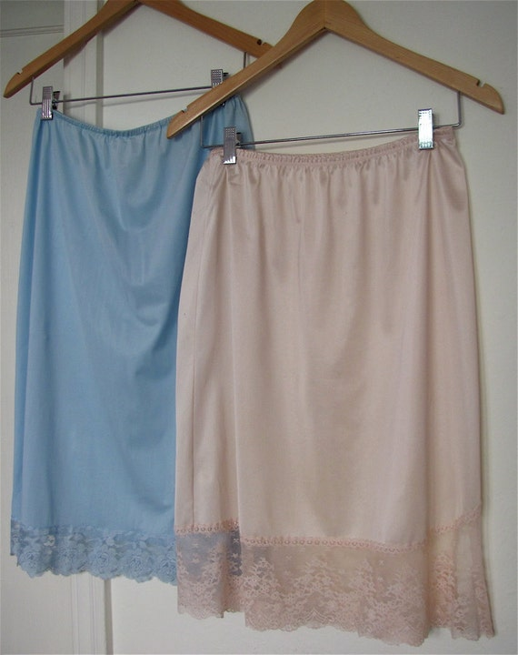 The 1950's Pale Blue and Pink Half Slips