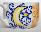 Sun Moon Stars Mug - hand painted and personalized