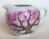 Chinese Plum Tree Pitcher - hand painted