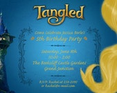 Tangled Rapunzel Party Invitations