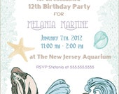Classy Mermaids Invitations