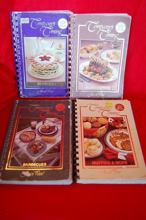 Set of 4 Vintage Cookbooks Company's Coming Standard AND Metric Measurements Canadian Best Sellers by Jean Pare